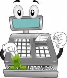 Cartoon Cashier Cash Register