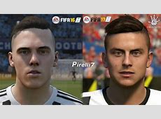 FIFA 17 vs FIFA 16 JUVENTUS Faces Comparison PS4