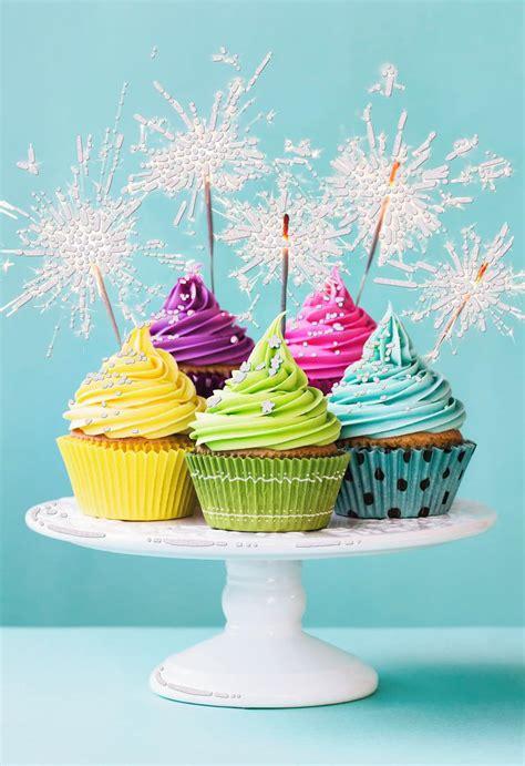 sparkling cupcakes blank birthday card greeting cards