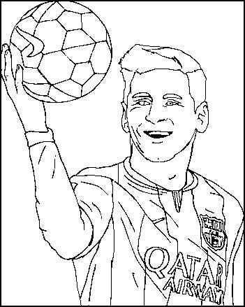 lionel messi poster coloring and activity page