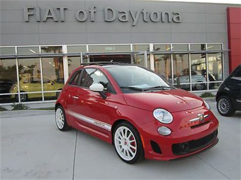 find  abarth red white stripes leather sunroof beats
