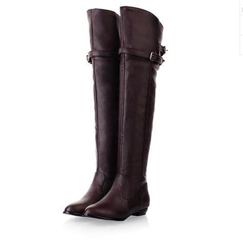 knee high boots women motorcycle boots
