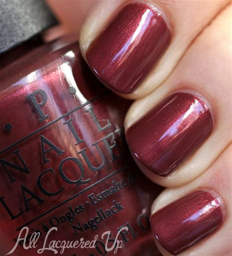 opi san francisco fall  silver red nail polish
