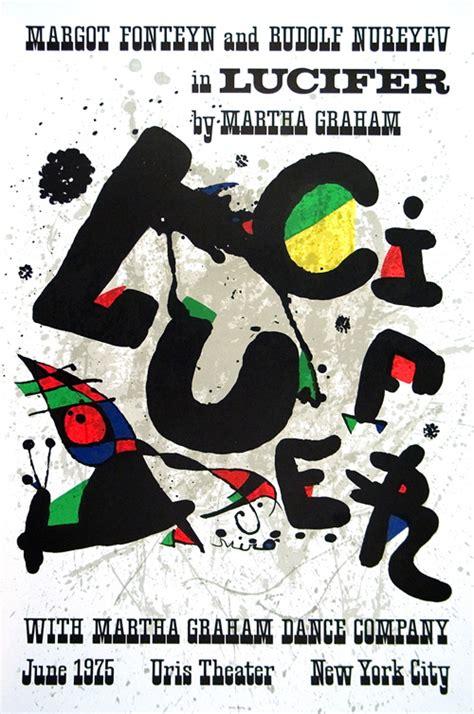 joan miro modern lithograph poster lucifer maeght