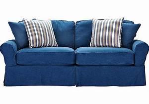 cindy crawford denim sofa smalltowndjscom With denim sofa bed