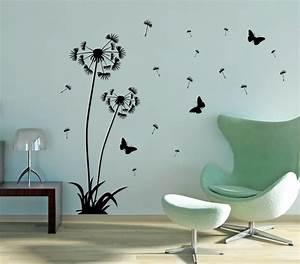 Wandtattoo Pusteblume Weiß : wandtattoo pusteblume set 120cm 160cm wandtattoo schmetterlinge ~ Frokenaadalensverden.com Haus und Dekorationen