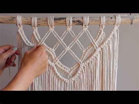 diy macrame tutorial intermediate wall hanging part