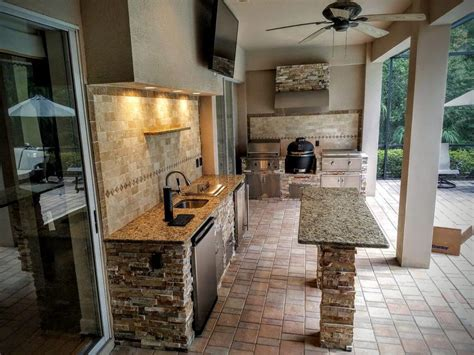 functional  practical outdoor kitchen design ideas