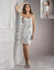 sexy short informal wedding dresses strapless sheath white With sexy casual wedding dress