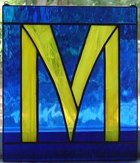 letter  initial custom stained glass suncatcher
