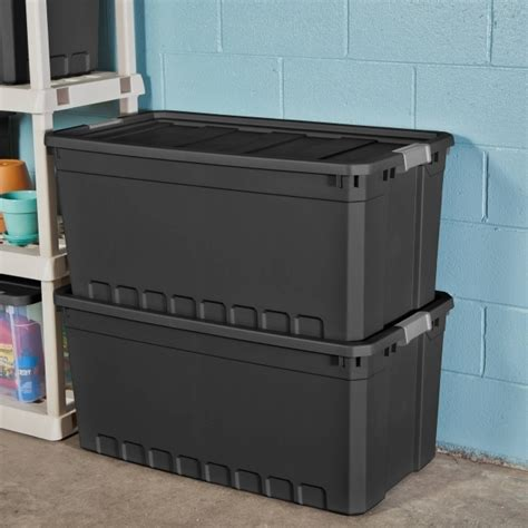 gorgeous sterilite  gallon stacker tote black case
