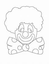 Clown Coloring Printable sketch template