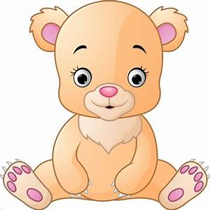 Cute teddy bear vector illustration 05 - Vector Animal ...