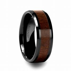 Mens Wedding Rings Mens Wedding Bands With Wood Inlay