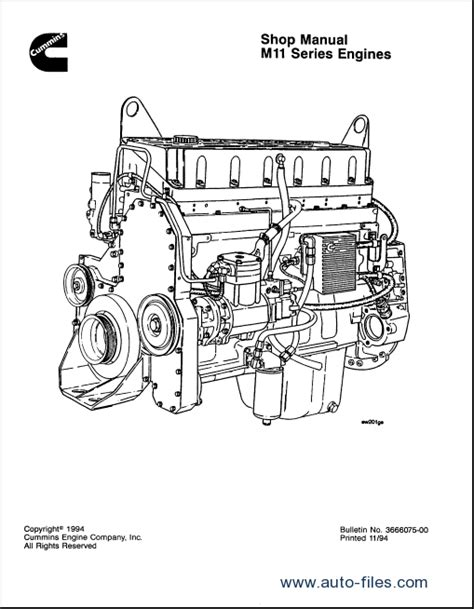 Cummins Engine Series Workshop Manual