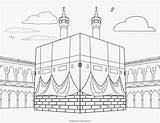 Coloring Pages Islamic Mecca Muslim Islam Allah Children Creations Holy They Kid sketch template