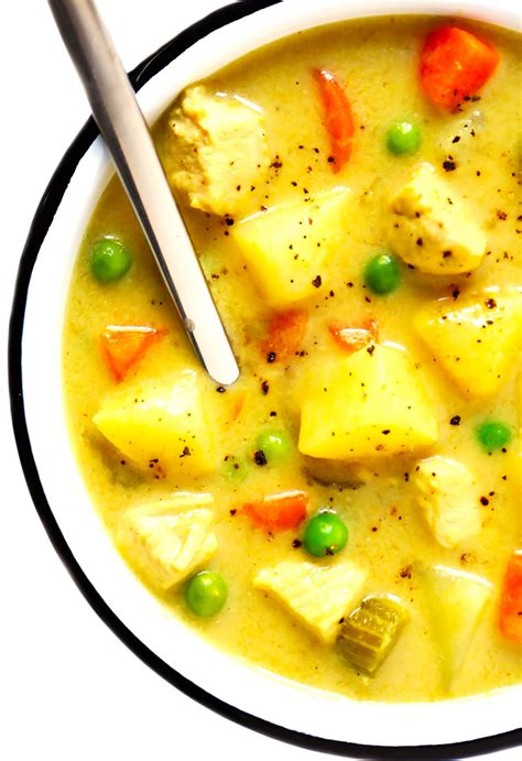 Quick, easy, healthy, gluten free, and dairy free! Cozy Chicken Curry Soup   Gimme Some Oven