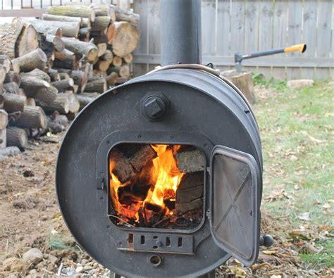 building  simple barrel stove  steps  pictures