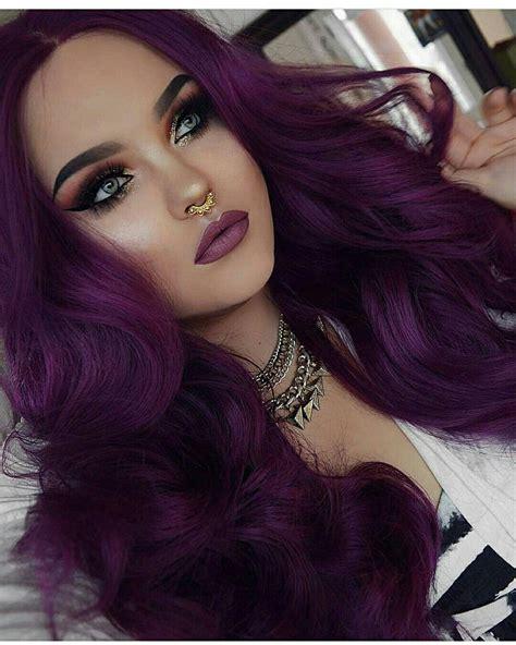 Makeup Dark Purple Hair Dark Purple Hair Color Hair