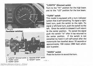 1982 Yamaha Xj550rj Maxim Motorcycle Owners Manual