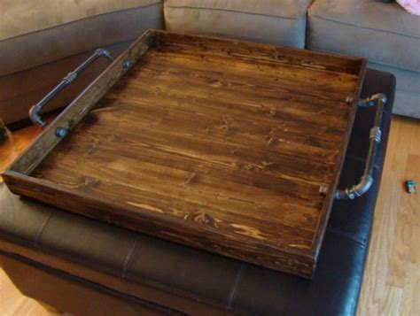 trays for ottomans industrial style ottoman tray rustic ottoman tray wooden