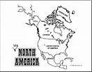 Clip Art: North America Map (coloring page) Labeled I ...
