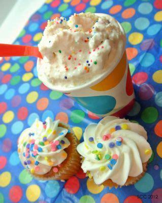 homemade dq confetti cake blizzard    ice cream