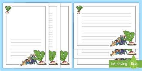 enormous turnip page borders teacher