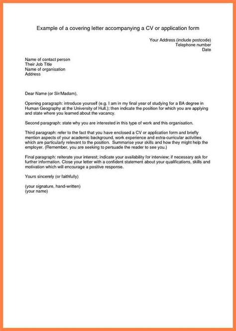 8 accompanying letter for job application company