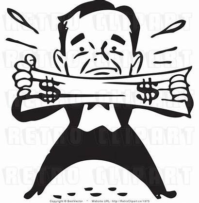 Dollar Clip Clipart Stretching Stretch Vector Businessman