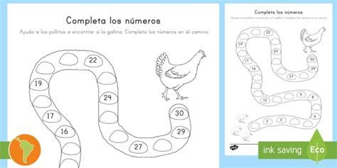 * New * Ficha De Actividad Completar Los Numeros Hasta El 30
