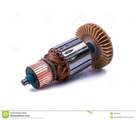 Electric Motor Coil by Copper Coils Inside Electric Motor Stock Photo Image Of