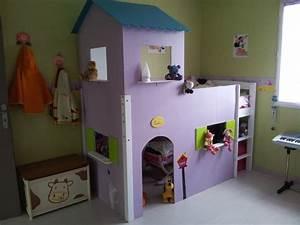 Lit En Hauteur Enfant : le lit cabane de lola ~ Melissatoandfro.com Idées de Décoration