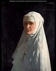 Portrait Of Yvonne Aubicq As A Nun - Sir William Newenham ...