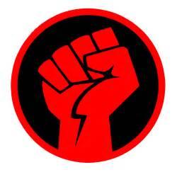 Raised fist socialism logo