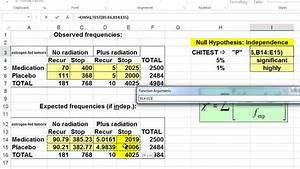 Testing for Statistical Significance in Excel: the Chi ...