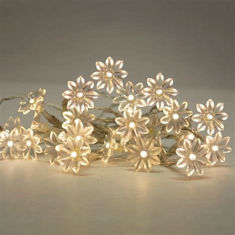 Battery Operated Warm White 20 Flower Led Flowers Fairy