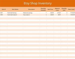 Excel etsy inventory template for Etsy templates