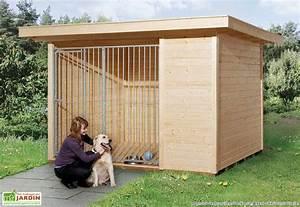 Cabane Pour Chien : chenil pour chien avec grille weka ~ Melissatoandfro.com Idées de Décoration