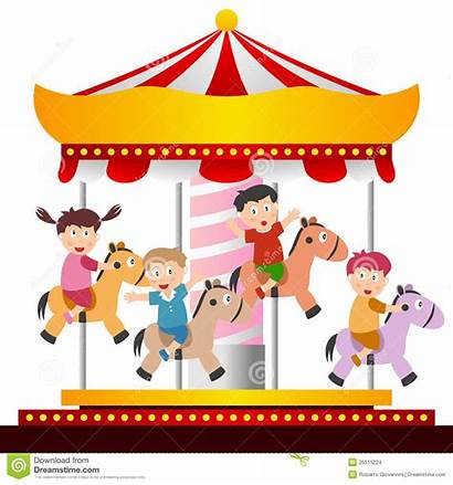 Carousel Ride Clipart Carnival Merry Round Karussell