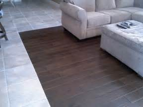 floor transition tile to wood wb designs