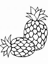 Coloring Pineapple Pages Fruits Fruit Printable Recommended Template Mycoloring sketch template