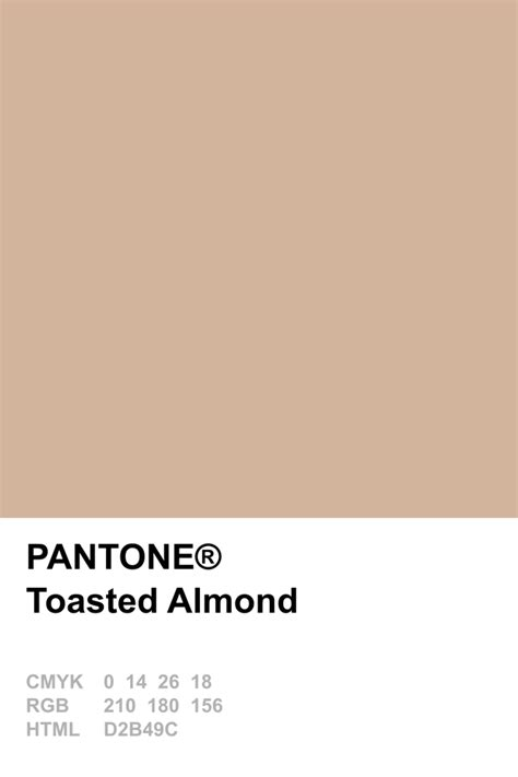 pantone 2015 toasted almond color pinte