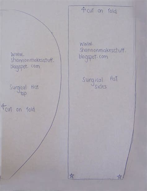 surgicalscrubhatpatternprintable scrub hat patterns
