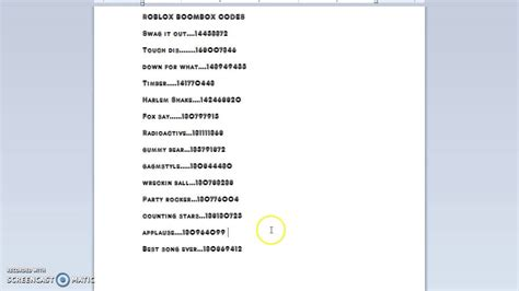 Some codes so you can chill and listen to music. Roblox boom box codes - YouTube