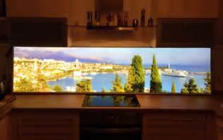 led panel küche küchenrückwand mit glas motiv kuzman glas