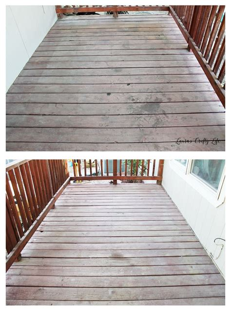 stain  deck preparation lauras crafty life