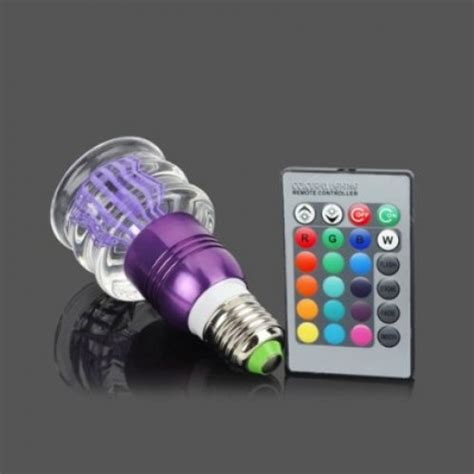 acrylic led color changing light 3w bulb with