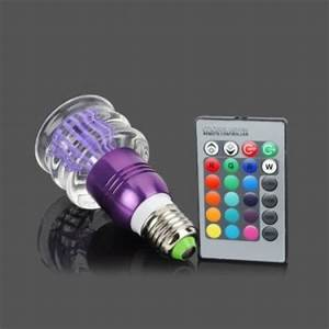 Acrylic Crystal LED Color Changing Light 3W Bulb With ...