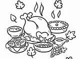 Coloring Thanksgiving Dinner Feast Drawing Turkey Plate License Drawings Printable Getdrawings Sheet Paintingvalley Getcolorings sketch template